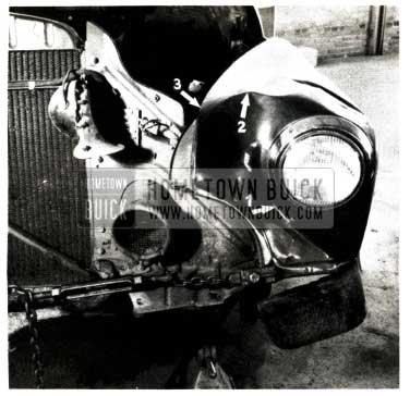 1951 Buick Headlamp Area Repair