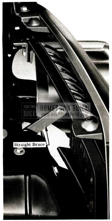 1951 Buick Install Bumper Guard Straight Brace