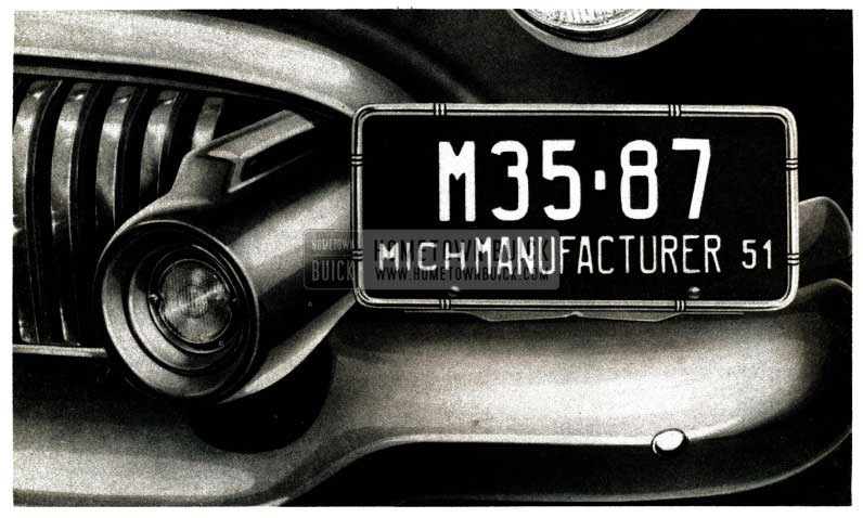 1951 Buick Licence Plate Location