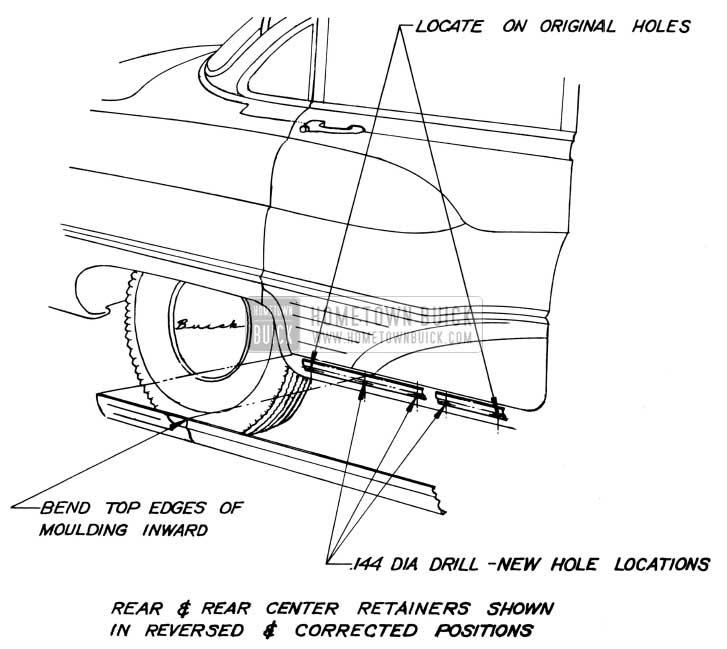 1951 Buick Model 72R Rocker Moulding Rework