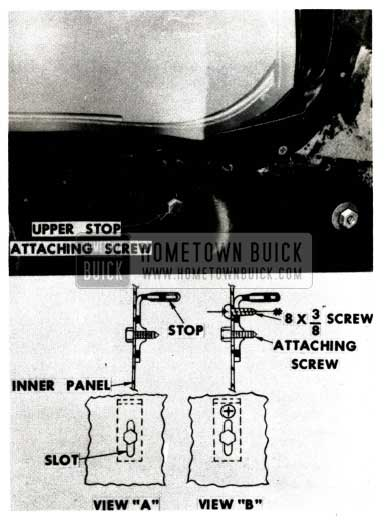 1951 Buick Quarter Window Attaching Screw