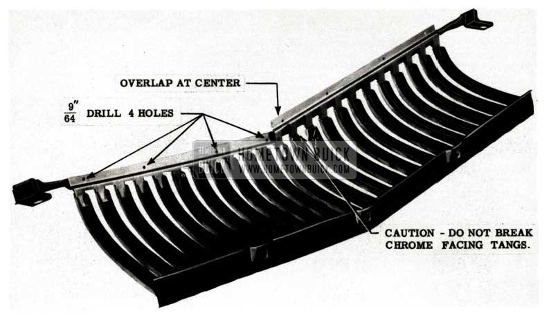 1951 Buick Radiator Grill Reinforcements