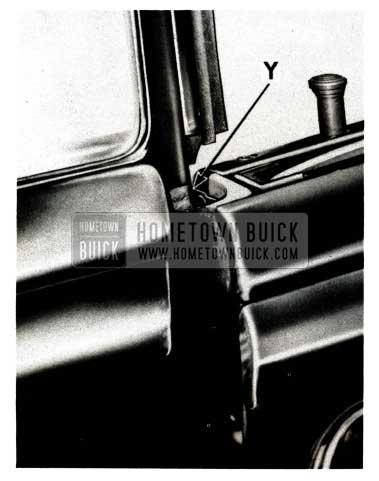 1951 Buick Rear Quarter Window Bushing Contact