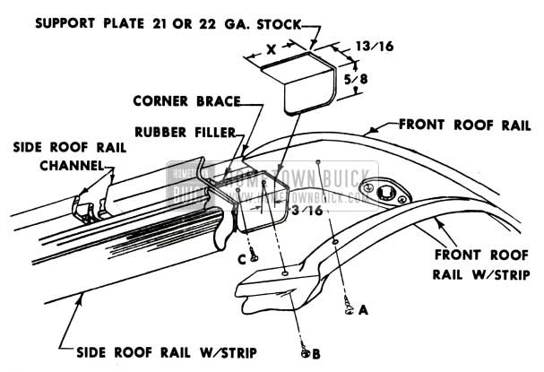 1951 Buick Roof Rail Assembly