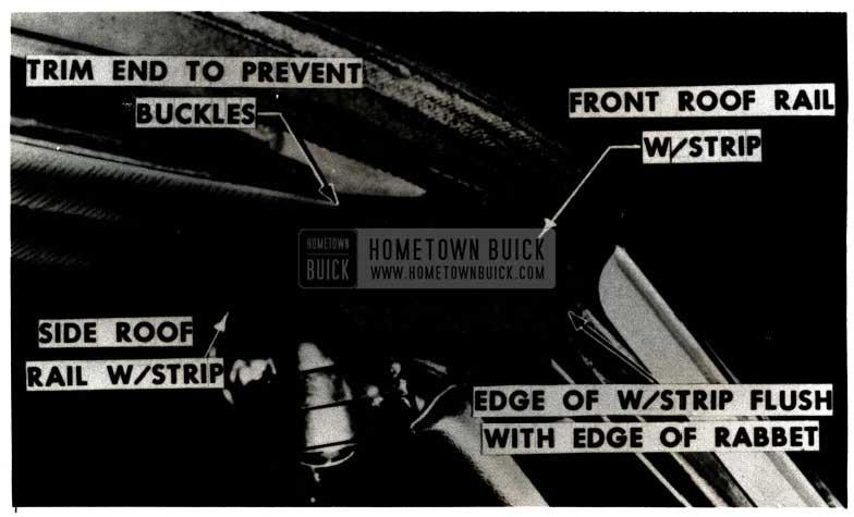 1951 Buick Roof Rail Waterleak Repair