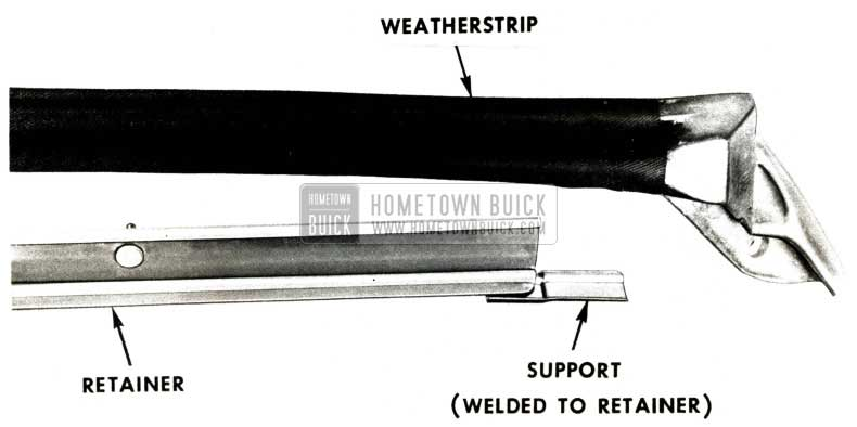 1951 Buick Roof Rail Weatherstrip