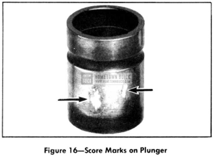 1951 Buick Score Marks on Plunger