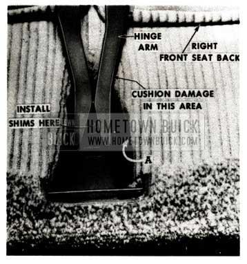 1951 Buick Seat Trim Damage