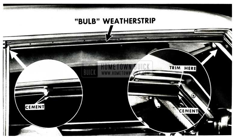1951 Buick Side Roof Rail Bulb Weatherstrip