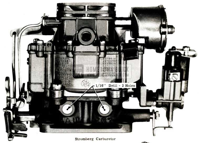 1951 Buick Stromberg Carburetor