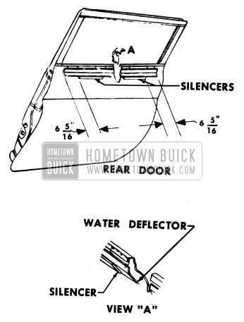 1951 Buick Window Regulator Silencers