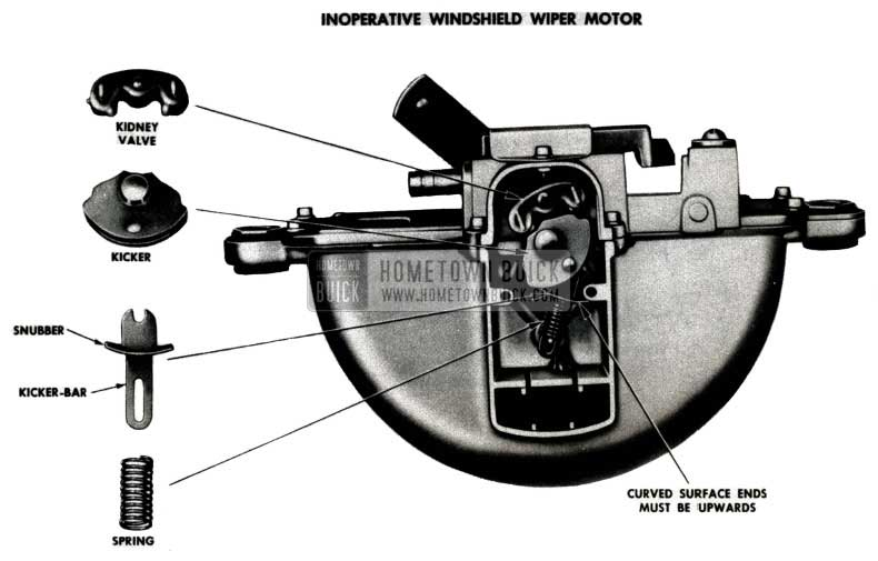 1951 Buick Windshield Wiper Assembly