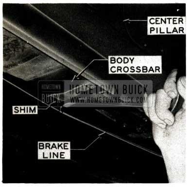 1952 Buick Body Crossbar