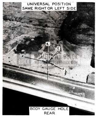 1952 Buick Body Gauge Hole Rear