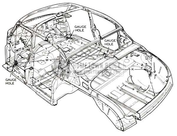 1952 Buick Body Gauge Holes