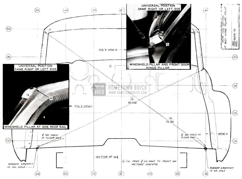 1952 Buick Body Measurements