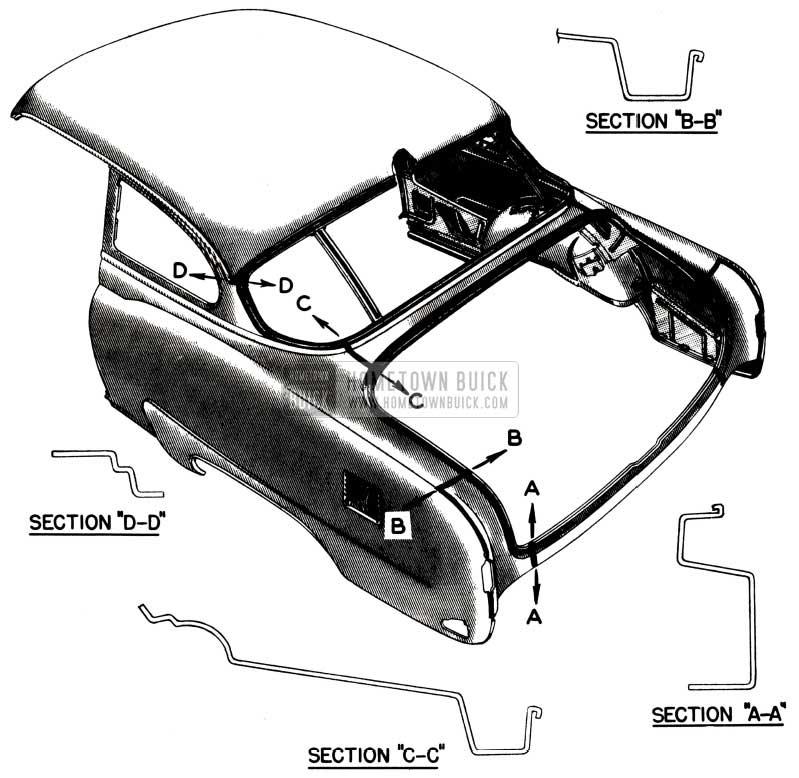 1952 Buick Body Weld Lines Diagram