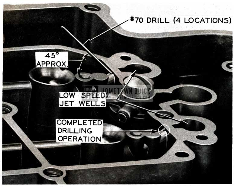 1952 Buick Carburetor Anti-Percolating Passage