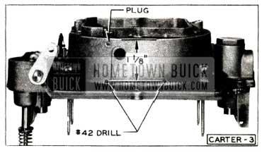 1952 Buick Carter Carburetor Air Horn Holes