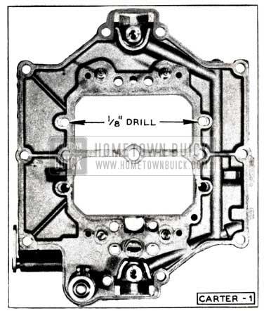 1952 Buick Carter Carburetor Cored Passages