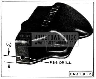 1952 Buick Carter Carburetor Metering Rod Housing Cover