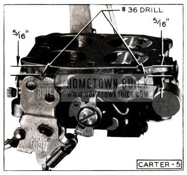 1952 Buick Carter Carburetor Throttle Body Holes