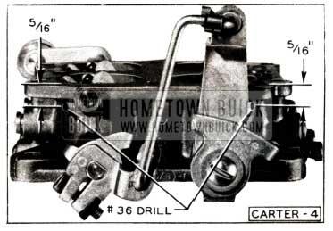 1952 Buick Carter Carburetor Throttle Body