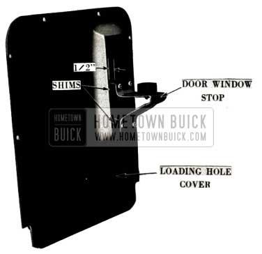1952 Buick Door Window Stop Cover