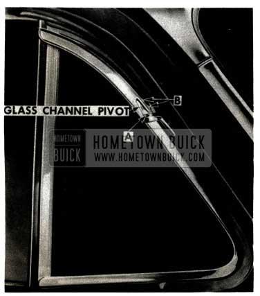 1952 Buick Front Door Vent Pivot