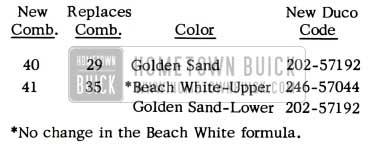 1952 Buick Golden Sand Paint Code