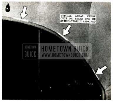 1952 Buick Headlining Repairs