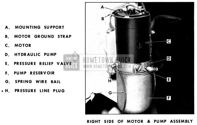 1952 Buick Hydro-Lectric Motor and Pump Assembly