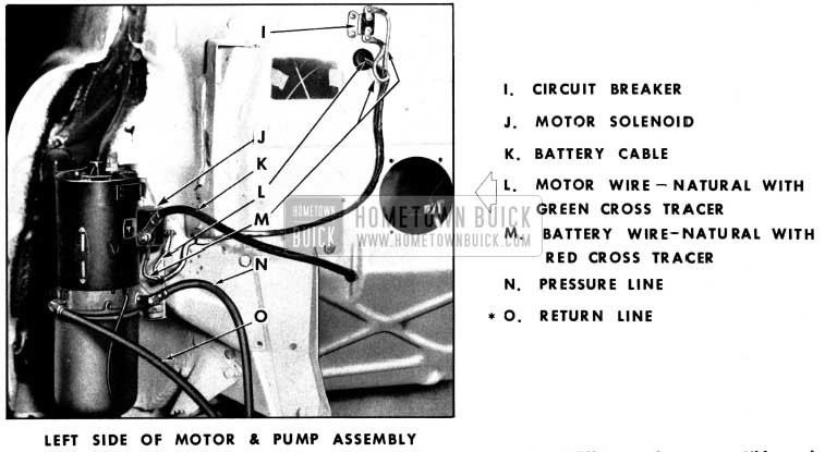 1952 Buick Left Side of Motor and Hydro-Lectric Pump Assembly