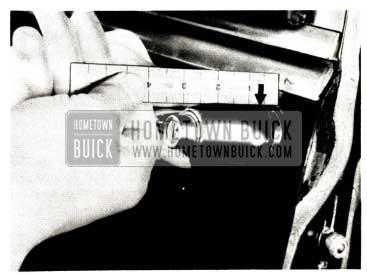 1952 Buick Push-Button Door Handle Measurements