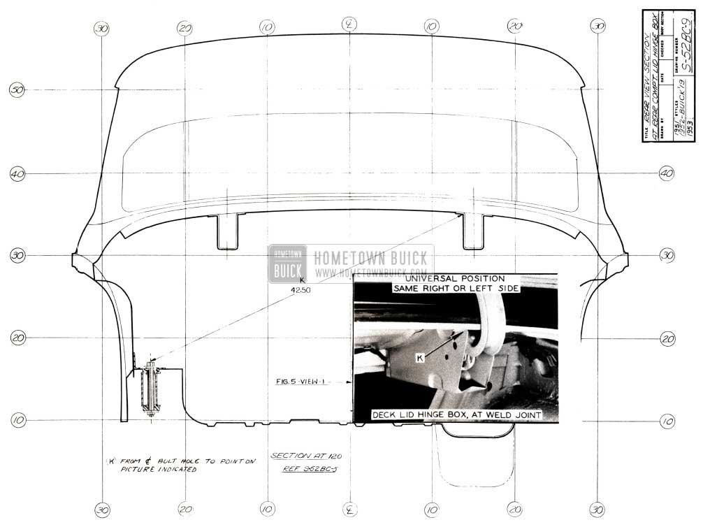 1952 Buick Rear Body Dimensions