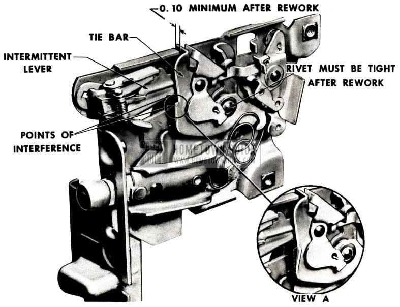 1952 Buick Rear Door Lock Bind