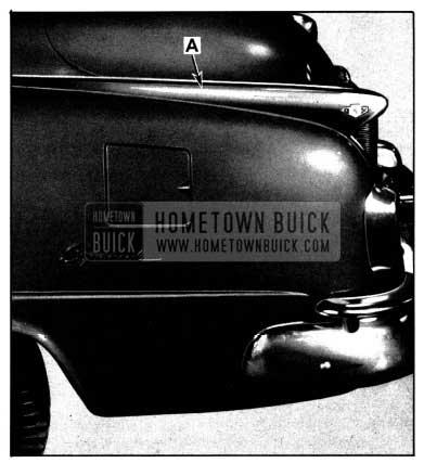1952 Buick Rear Fender Crown Molding