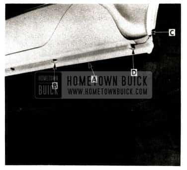 1952 Buick Rear Quarter Pinchweld Flange