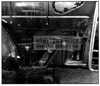 1952 Buick Rear Quarter Side Molding