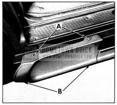 1952 Buick Rocker Panel Molding Extension