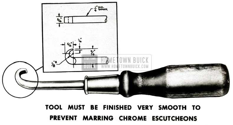1952 Buick Seat Adjuster Knob Tool