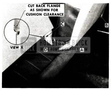 1952 Buick Seat Cushion Trim Damage Repair