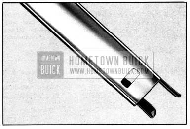 1952 Buick Side Roof Rail Mechanical Sealing Strip Adjustment