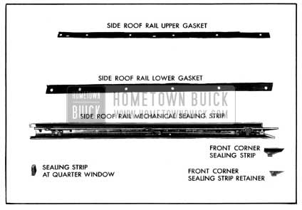 1952 Buick Side Roof Rail Mechanical Sealing Strip Assembly
