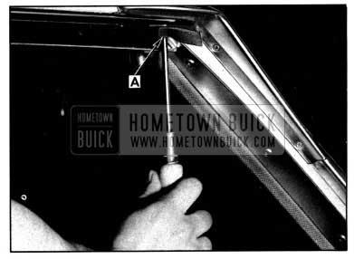 1952 Buick Side Roof Rail Mechanical Sealing Strip Gasket