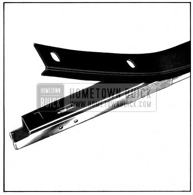 1952 Buick Side Roof Rail Mechanical Sealing Strip Installation