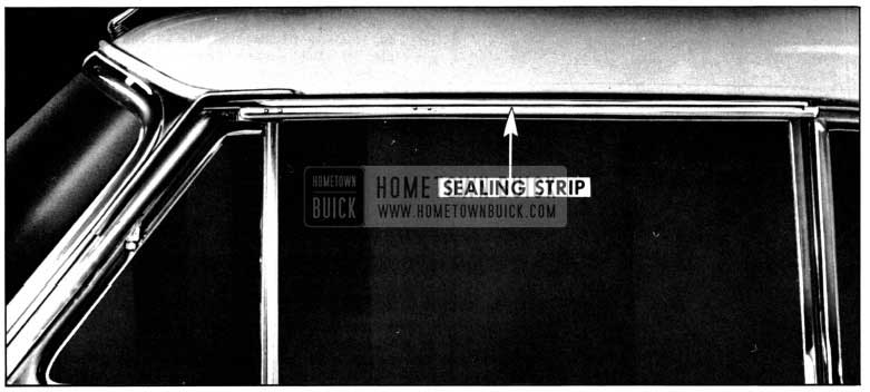 1952 Buick Side Roof Rail Mechanical Sealing Strip