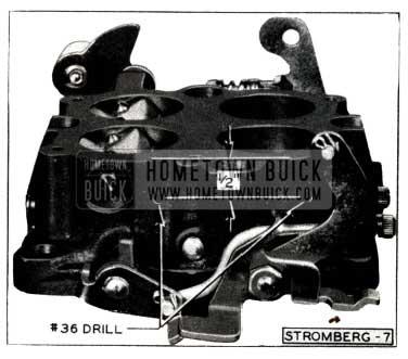 1952 Buick Stromberg Carburetor Throttle Body Drill Holes