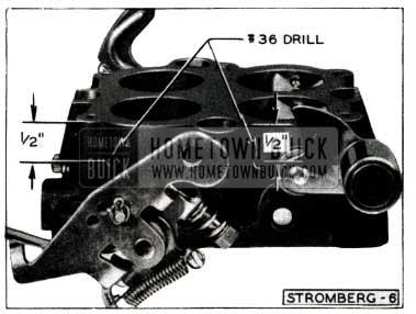 1952 Buick Stromberg Carburetor Throttle Body Holes