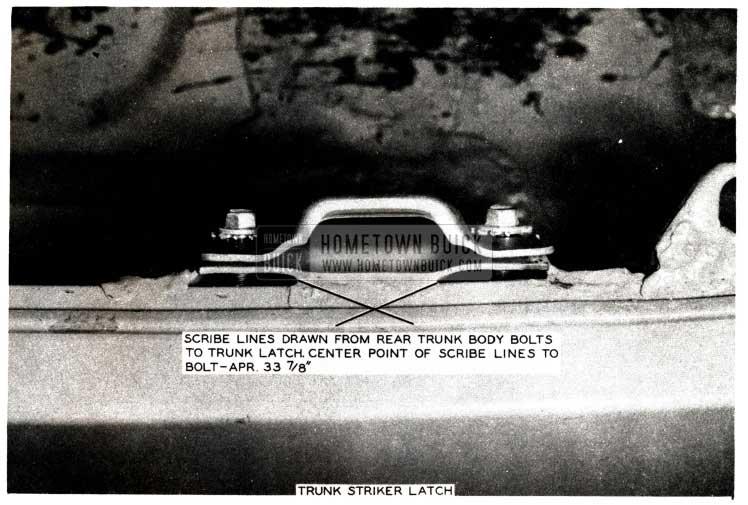 1952 Buick Trunk Striker Latch
